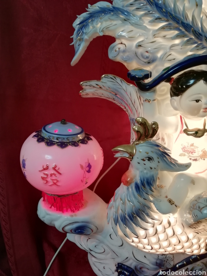 Vintage: Lámpara porcelana china - Foto 9 - 188437748