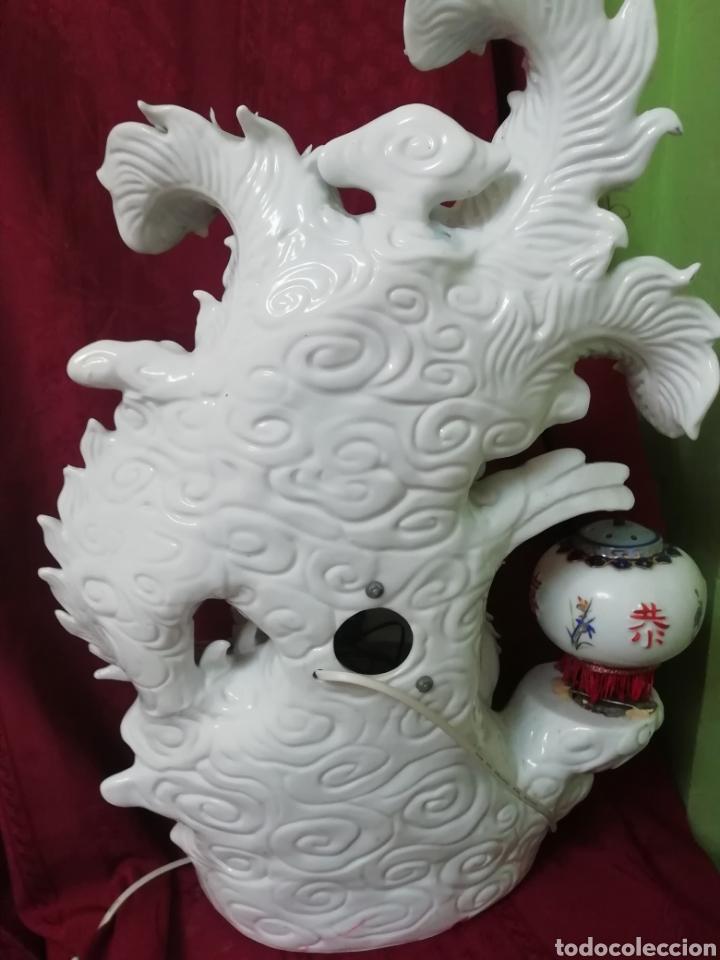 Vintage: Lámpara porcelana china - Foto 10 - 188437748