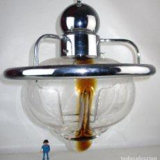 Vintage: LAMPARA VINTAGE SPACE AGE ENORME TULIPA MURANO MAZZEGA DISEÑO ITALIA AÑOS 60 . Lote 188443472