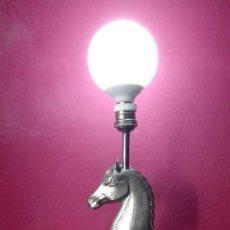 Vintage: LAMPARA CABALLO METAL. Lote 188745158