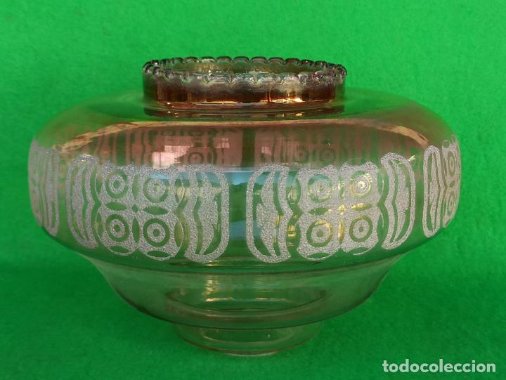 TULIPA CRISTAL TIPO MURANO MAZZEGA (Vintage - Lámparas, Apliques, Candelabros y Faroles)