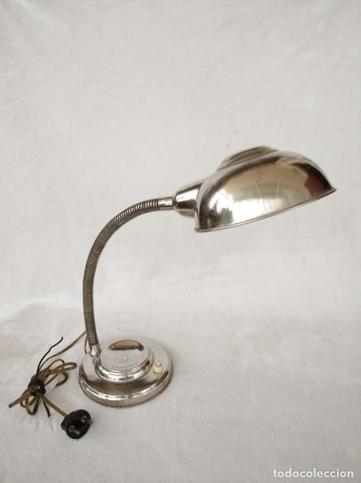 FLEXO DE ALUMINIO (Vintage - Lámparas, Apliques, Candelabros y Faroles)