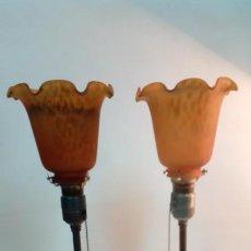 Vintage: LAMPARAS DE MESA PAREJA -AÑOS 50-. Lote 190150562