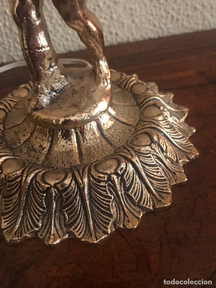 Vintage: Lámparas de bronces con lágrimas de cristal - Foto 4 - 190873225