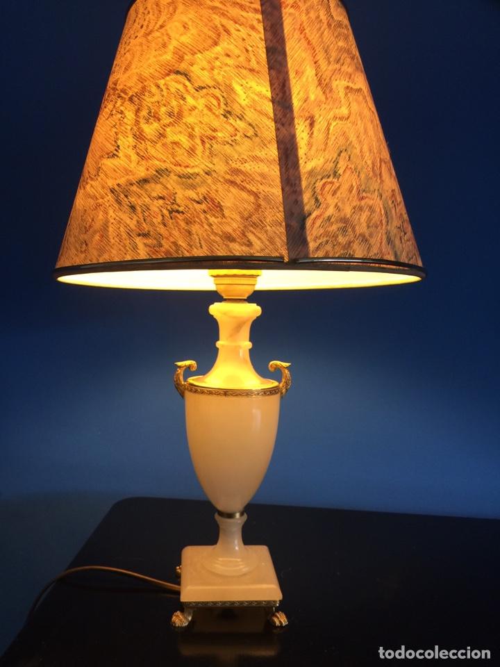 LAMPARA DE ÓNIX (Vintage - Lámparas, Apliques, Candelabros y Faroles)