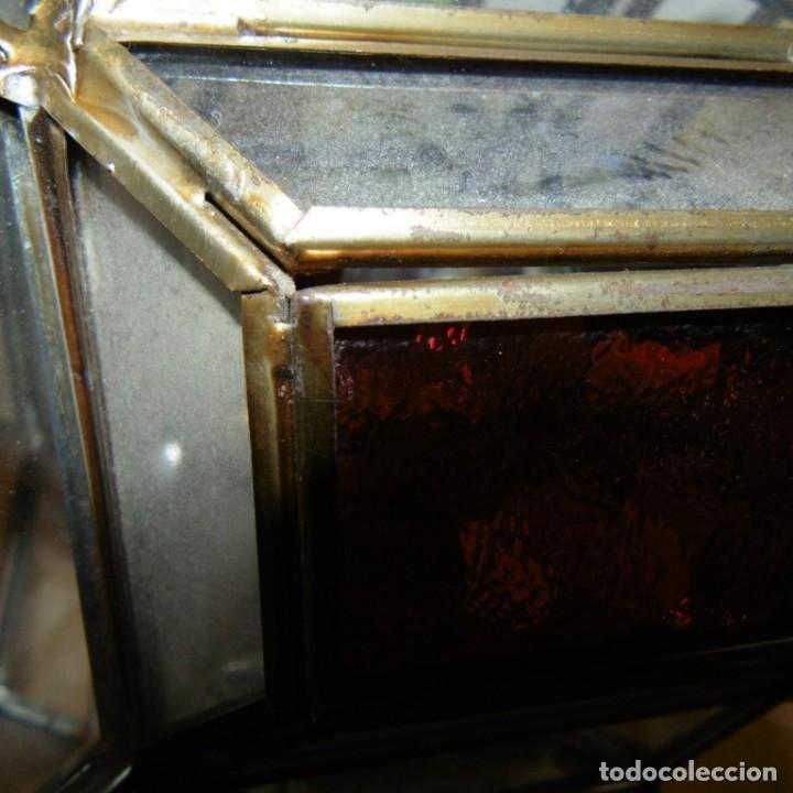 Vintage: Farol colgante moruno. Transparencias color. - Foto 5 - 190999063