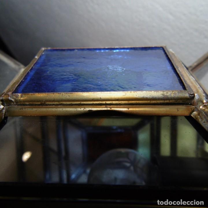 Vintage: Farol colgante moruno. Transparencias color. - Foto 6 - 190999063