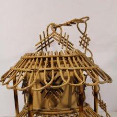 Vintage: LAMPARA DE TECHO EN BAMBÚ. Lote 191025318