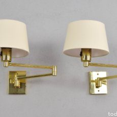 Vintage: APLIQUES SWING ARM APLIQUE LÁMPARA LUMINARIA METALARTE HANSEN LAMPS ILUMINACIÓN DISEÑO MID CENTURY. Lote 191472961