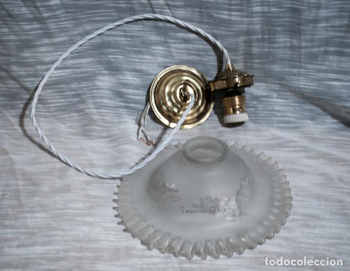 Vintage: LAMPARA, TULIPA ELECTRIFICADA CON CORDON TEXTIL - Foto 3 - 192745547