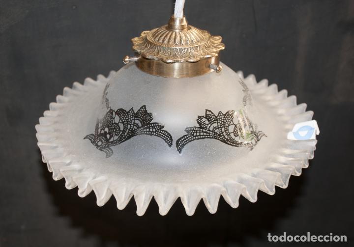 Vintage: LAMPARA, TULIPA ELECTRIFICADA CON CORDON TEXTIL - Foto 4 - 192745547