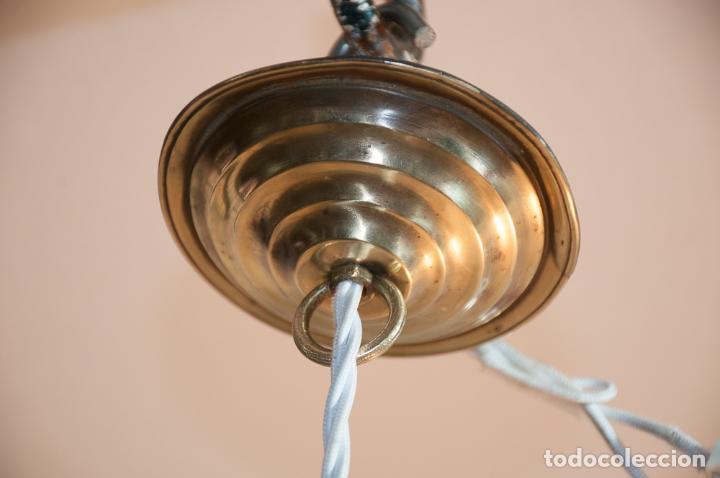 Vintage: LAMPARA, TULIPA ELECTRIFICADA CON CORDON TEXTIL - Foto 6 - 192745547