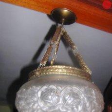 Vintage: LAMPARA ANTIGUA TULIPA GRANDE PARA TECHO. Lote 193317553