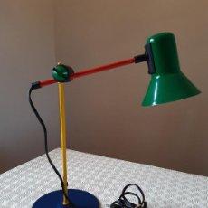 Vintage: LAMPARA FLEXO EXTENSIBLE SOBREMESA VINTAGE VENETA LUMI. MADE IN ITALY. USADO Y FUNCIONANDO.. Lote 193396653