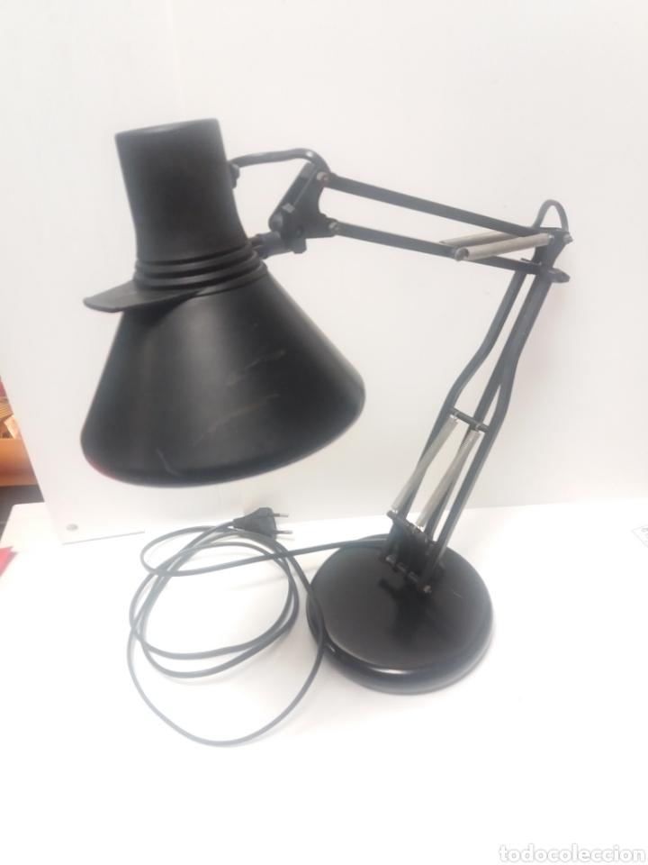 LAMPARA FASE DE FLEXO SOBRE MESA (Vintage - Lámparas, Apliques, Candelabros y Faroles)