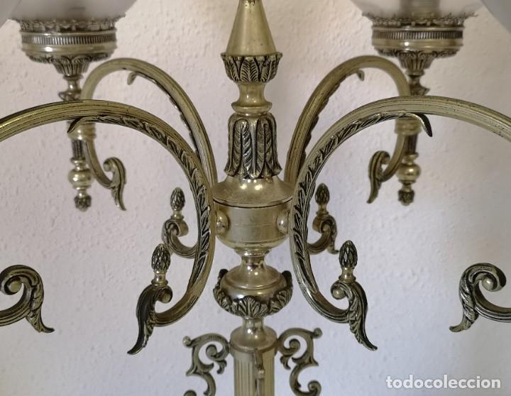 Vintage: Gran lámpara de sobremesa de 5 brazos y 80 cm - Foto 3 - 194225053