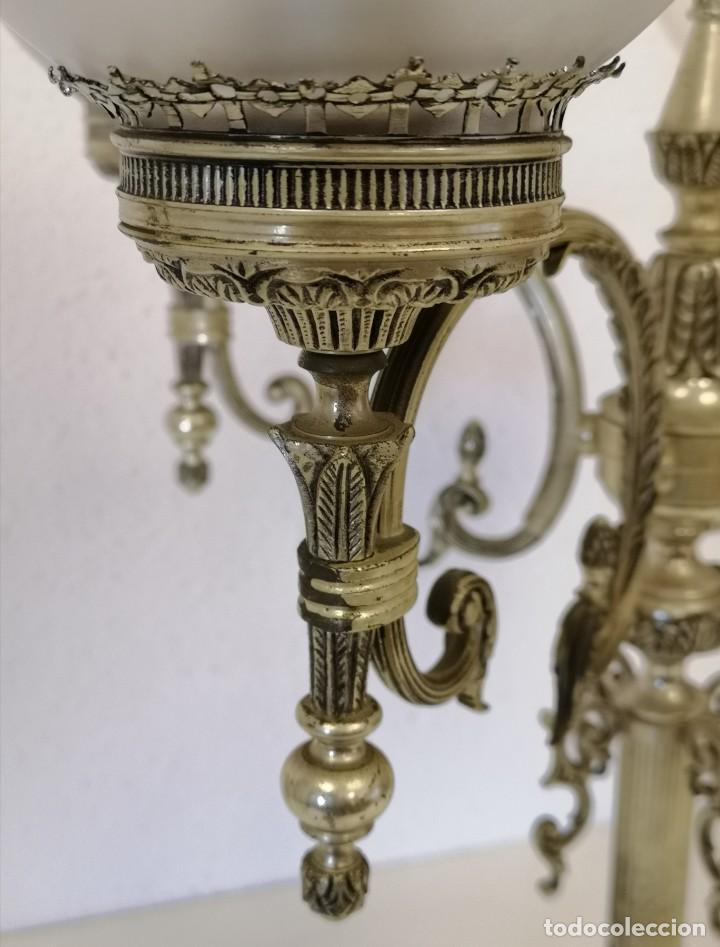 Vintage: Gran lámpara de sobremesa de 5 brazos y 80 cm - Foto 5 - 194225053