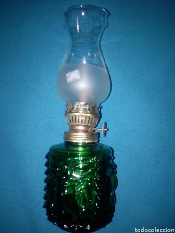 QUINQUE CRISTAL VERDE (Vintage - Lámparas, Apliques, Candelabros y Faroles)