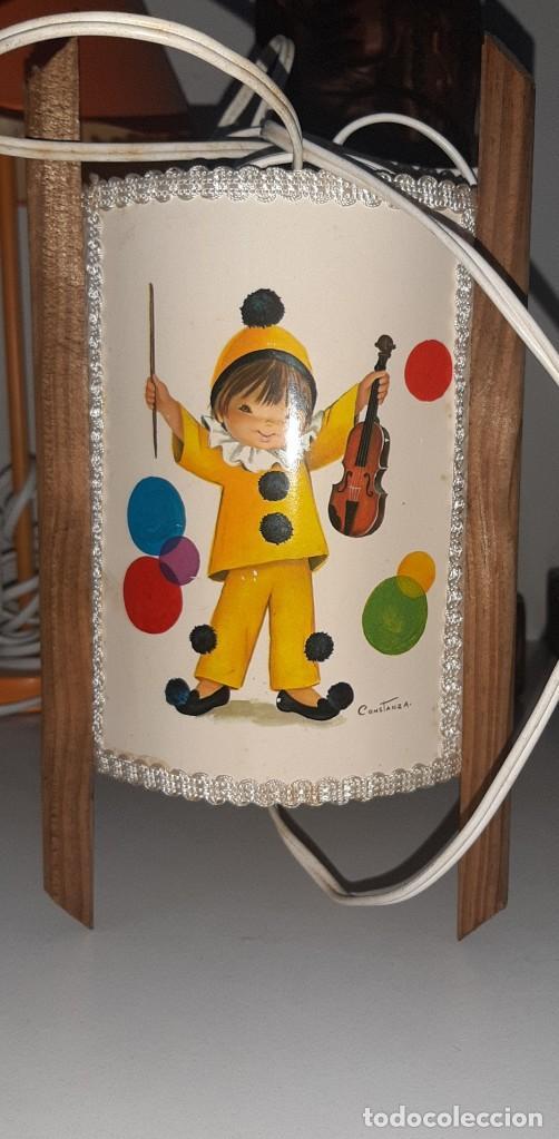 LAMPARA INFANTIL AÑOS 60 CONSTANZA (Vintage - Lámparas, Apliques, Candelabros y Faroles)