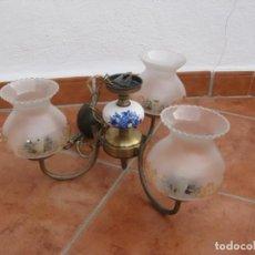 Vintage: LAMPARA DE TECHO DE 3 BRAZOS CON TULIPAS.. Lote 194298316