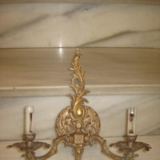 Vintage: APLIQUE DE PARED EN METAL DORADO.. Lote 194299035