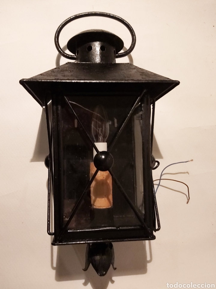 APLIQUE FAROL DE JARDIN (Vintage - Lámparas, Apliques, Candelabros y Faroles)