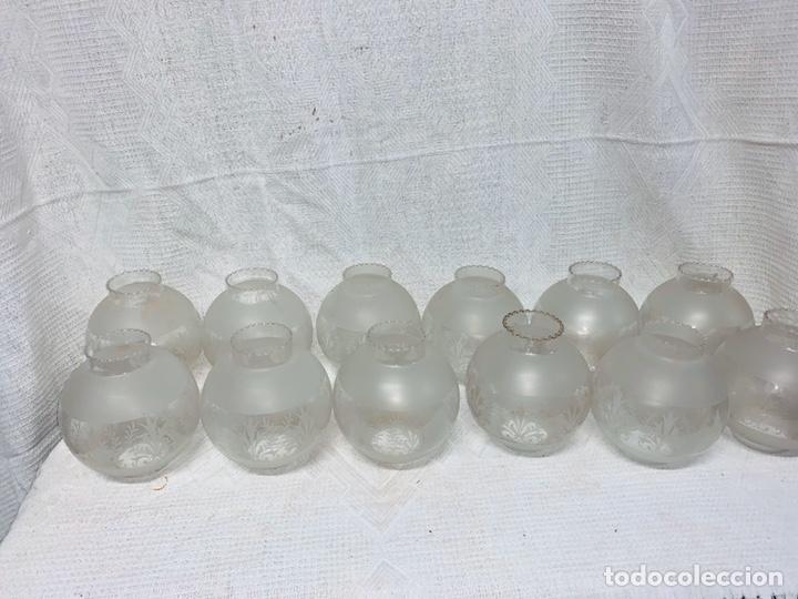 12 TULIPAS ANTIGUAS PARA LÁMPARA (Vintage - Lámparas, Apliques, Candelabros y Faroles)