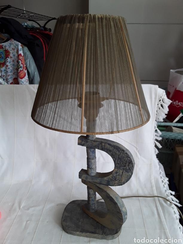 LAMPARA DE DISEÑO PIE DE BARRO (Vintage - Lámparas, Apliques, Candelabros y Faroles)