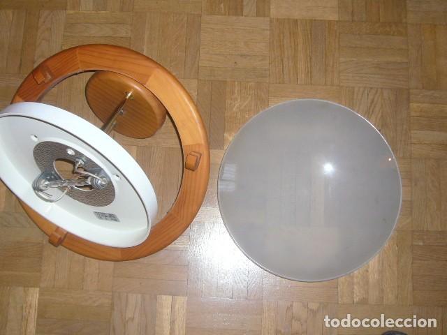 Vintage: LAMPARA DE TECHO DE MADERA Y VIDRIO (DIAMETRO 36 CM) - Foto 5 - 194402855