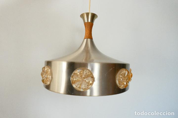 LÁMPARA DANESA OVNI UFO VITRIKA AGE SPACE, 1960S (Vintage - Lámparas, Apliques, Candelabros y Faroles)
