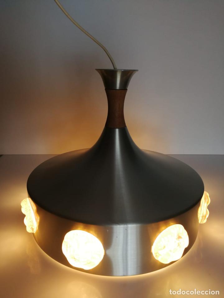 Vintage: Lámpara danesa Ovni ufo Vitrika age space, 1960s - Foto 4 - 194497775