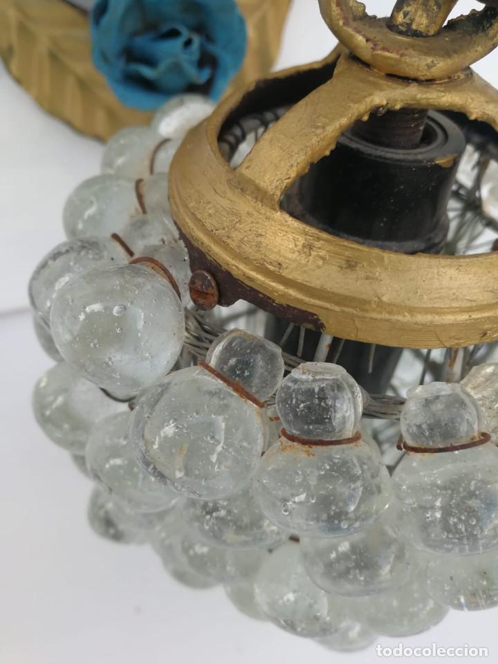 Vintage: Antiguo aplique de racimo de uvas en cristal de murano - Foto 4 - 194502187