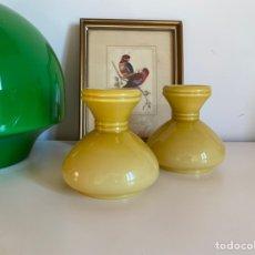 Vintage: TULIPAS DE OPALINA EN COLOR AMARILLO. Lote 194578177