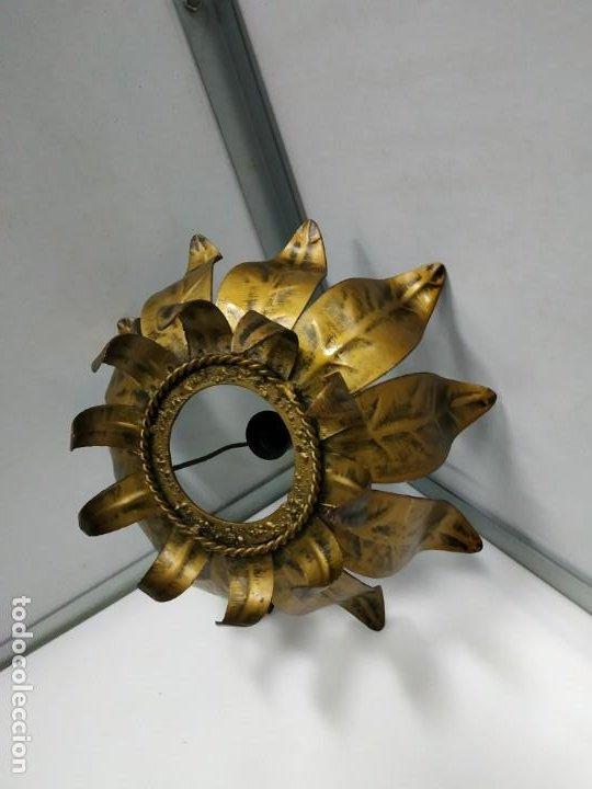 Vintage: Aplica lampara antigua metal diseño vintage forma de sol o flor - Foto 10 - 194604511
