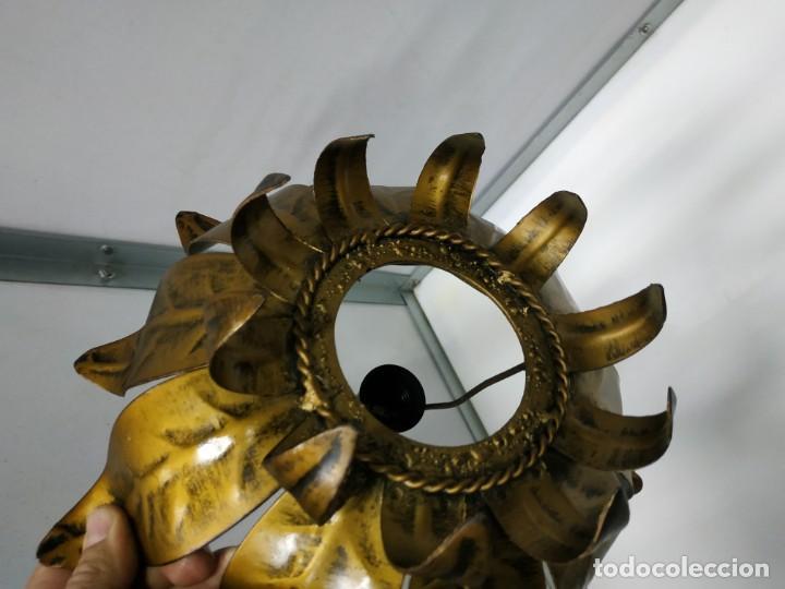 Vintage: Aplica lampara antigua metal diseño vintage forma de sol o flor - Foto 14 - 194604511