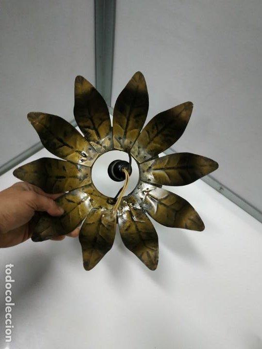 Vintage: Aplica lampara antigua metal diseño vintage forma de sol o flor - Foto 17 - 194604511