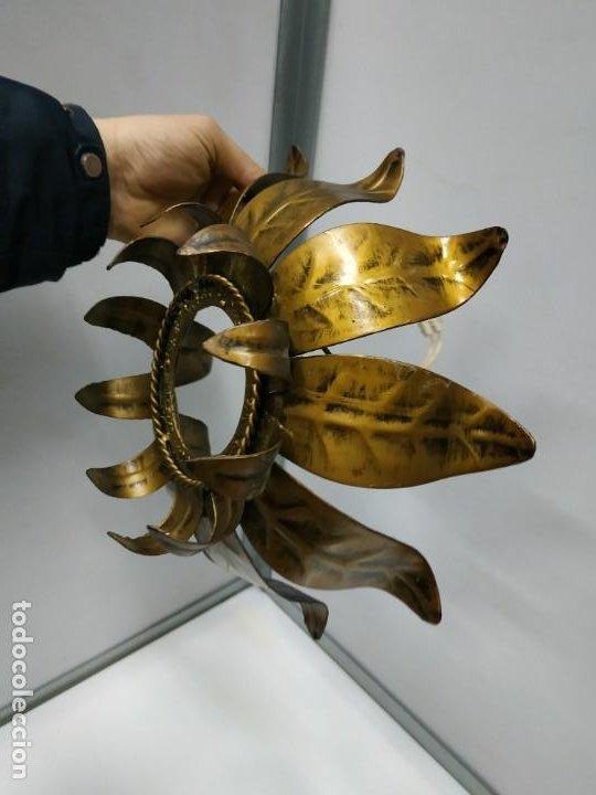 Vintage: Aplica lampara antigua metal diseño vintage forma de sol o flor - Foto 18 - 194604511