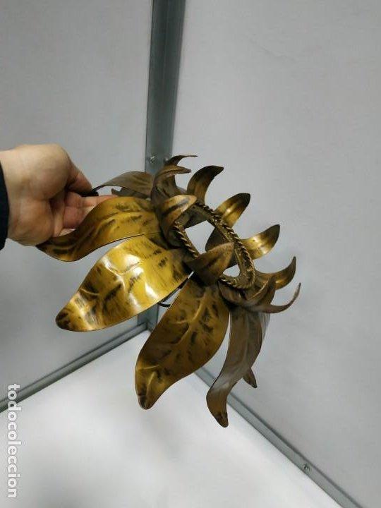 Vintage: Aplica lampara antigua metal diseño vintage forma de sol o flor - Foto 19 - 194604511