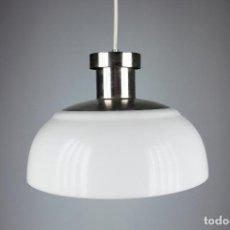Vintage: LAMPARA TECHO KARTELL ACHILLE CASTIGLION KD7 BLANCO VINTAGE SPACE AGE ITALIA AÑOS 60. Lote 194654315