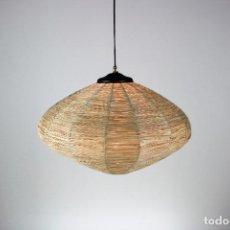 Vintage: LAMPARA DE TECHO NEGRO LATÓN VINTAGE AÑOS 60. Lote 194659390