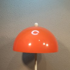 Vintage: PRECIOSA LAMPARA SETA DE METAL DE SOBREMESA VINTAGE AÑOS 60 / 70. TODA ELLA ORIGINAL.. Lote 194740590