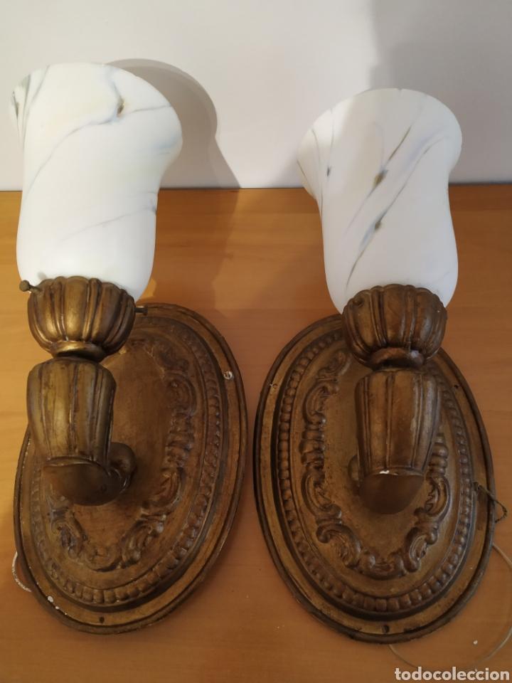 Vintage: Pareja de apliques - Foto 2 - 194787283