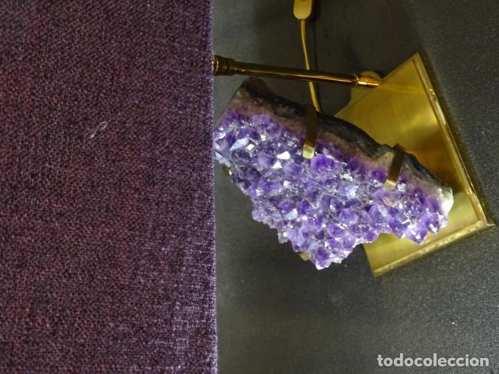 Vintage: Lámpara de mesa Willy Daro con piedra de amatista- Bélgica, 70s - Foto 28 - 194879873