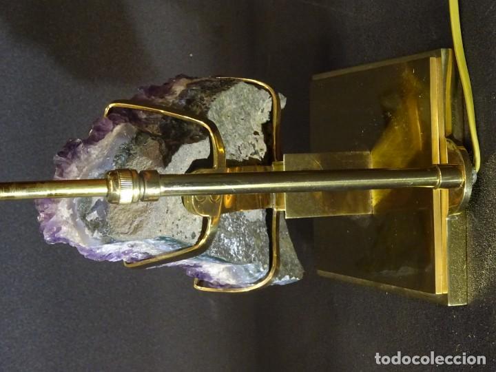Vintage: Lámpara de mesa Willy Daro con piedra de amatista- Bélgica, 70s - Foto 47 - 194879873