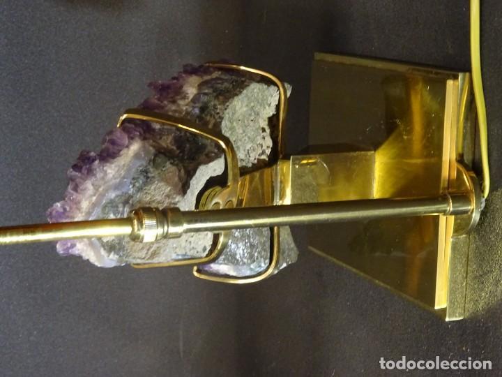 Vintage: Lámpara de mesa Willy Daro con piedra de amatista- Bélgica, 70s - Foto 48 - 194879873