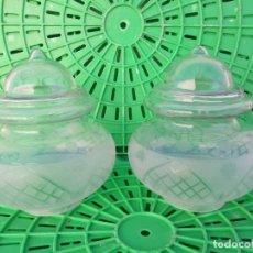 Vintage: 2 TULIPAS ANTIGUAS DE CRISTAL PARA LAMPARA. Lote 194945458