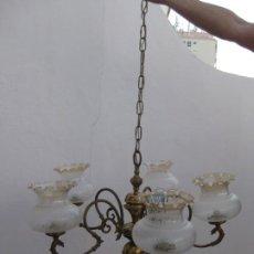 Vintage: LAMPARA DE TECHO DE 5 BRAZOS CON TULIPAS.. Lote 194965212