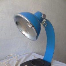 Vintage: LAMPARA METAL AZUL VINTAGE MODELO COLECCION FASE ?. Lote 195007936