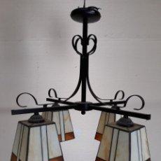 Vintage: LAMPARA DE TECHO TIFFANY. Lote 195051863