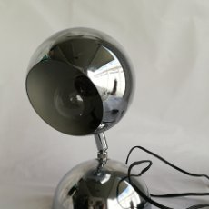 Vintage: BONITA LAMPARA DE MESA EYEBALL EN METAL CROMADO VINTAGE SPACE AGE. Lote 195185238